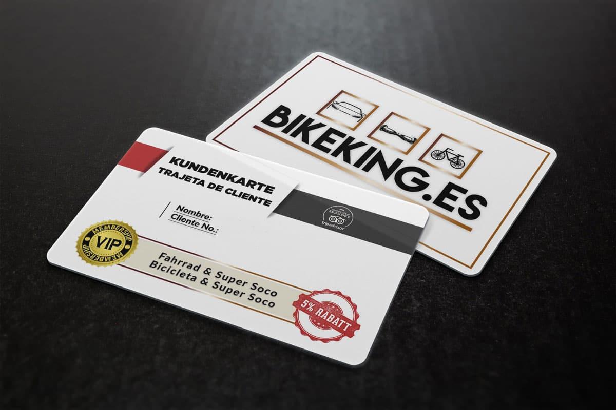 The Bike King customer card - BikeKing® Mallorca